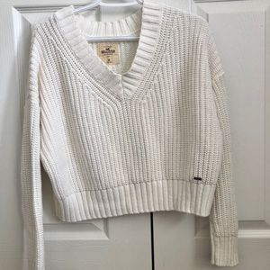Oversized White Hollister Knit Sweater